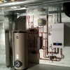 Boiler, Indirect Fired Hot Water Tank with Air Handler & HRV